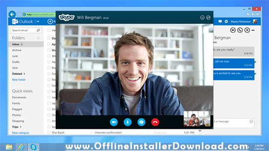 Download Skype to make free video calls