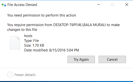 Cannot Delete Problems On Windows